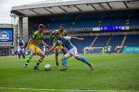 11th July 2020; Ewood Park, Blackburn, Lancashire, England; English Football League Championship Football, Blackburn Rovers versus West Bromwich Albion; Adam Armstrong of Blackburn Roverstakes on the West Brom defence