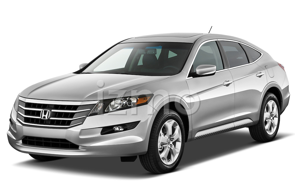 Front three quarter view of a 2012 Honda Crosstour EXL.