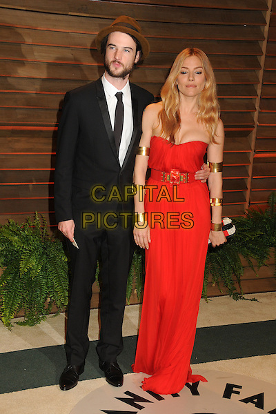 02 March 2014 - West Hollywood, California - Tom Sturridge, Sienna Miller. 2014 Vanity Fair Oscar Party following the 86th Academy Awards held at Sunset Plaza.  <br /> CAP/ADM/BP<br /> &copy;Byron Purvis/AdMedia/Capital Pictures