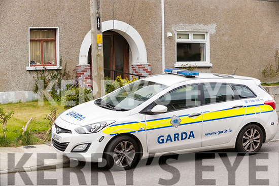 Garda car outside a house in Brendan's Park, Tralee