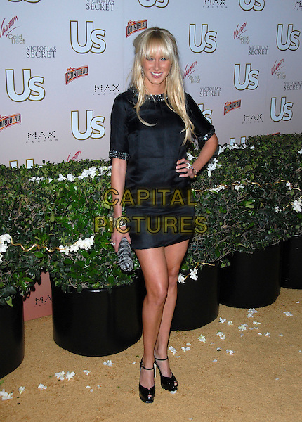 KIMBERLEY STEWART.The US Hot Hollywood 2007 held at Sugar in Hollywood, California, USA. .April 26th, 2007.full length black dress kimberly hand on hip.CAP/DVS.©Debbie VanStory/Capital Pictures