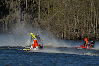 Frame 10: Serena Durr 96-F, Erin Pittman 6-H crash. (Outboard Hydroplanes)