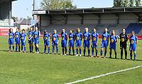 20190422 - Denderleeuw , BELGIUM : Gent's team pictured with Jara De Bauw (87) , Celine Daenens (2) , Fleur Annaert  (6) , Astrid Waeles (13) , Imani Prez (14) , Rania Boutiebi (15) , Lore Jacobs (16) , Alixe Bosteels (17) ,  Nelle Van Parijs (18) , Imme De Meyer (20) ,  Fleur Van Daele (27) , Febe De Roy (28) , Frie Craeymeersch (33) , Caro Lauwers (34) , Lyndsey Van Belle (35) and Judith Verheyen (48) during the Under 16 final of Belgian cup 2019 , a soccer women game between AA Gent Ladies B and The Yellow Flames 1.0  , in the  Van Roystadion in Denderleeuw , Monday 22 th April 2019 . PHOTO SPORTPIX.BE | DAVID CATRY