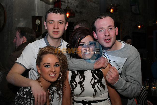 Niamh O'Connell, Emma Comerford, Lee Walsh and Martin Beirne in Cairnes...(Photo credit should read Jenny Matthews/NEWSFILE)...