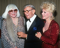 Peggy Lee George Burns Eva Gabor 1982<br /> Photo By John Barrett/PHOTOlink
