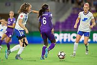 Orlando, FL - Saturday September 02, 2017: Julie King, Chioma Ubogagu during a regular season National Women's Soccer League (NWSL) match between the Orlando Pride and the Boston Breakers at Orlando City Stadium.