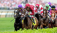 LOUISVILLE, KY - MAY 04: Backyard Heaven #4, ridden by Irad Ortiz Jr, wins the Alysheba on Kentucky Oaks Day at Churchill Downs on May 4, 2018 in Louisville, Kentucky. (Photo by Candice Chavez/Eclipse Sportswire/Getty Images)