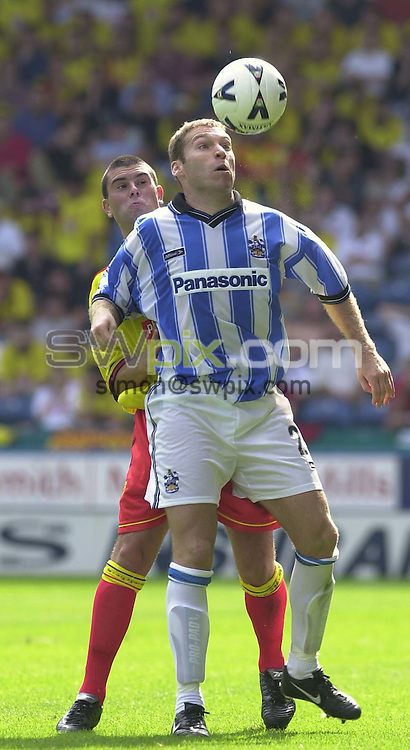 Pix:Simon Wilkinson/SWPIX. Nationwide League Division 1. 2000. Huddersfield v Watford 12/08/2000...COPYWRIGHT PICTURE>>SIMON WILKINSON>>01943 436649>>..Huddersfields Kevin  Galllen.