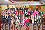 RETIREMENT: Michael Ahern, Ballinorig East (seated centre) who retired as General Manager of the HSE after 38 years service enjoying a great time celebrating with family and friends at the Meadowlands hotel on Friday.