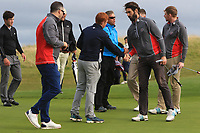 Galway win on the 14th during the Connacht Final of the AIG Barton Shield at Galway Bay Golf Club, Galway, Co Galway. 11/08/2017<br /> <br /> Picture: Golffile | Thos Caffrey<br /> <br /> <br /> All photo usage must carry mandatory copyright credit     (&copy; Golffile | Thos Caffrey)