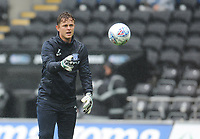 Preston North End Goalkeeper Coach Jack Cudworth during the pre-match warm-up <br /> <br /> Photographer Kevin Barnes/CameraSport<br /> <br /> The EFL Sky Bet Championship - Swansea City v Preston North End - Saturday August 11th 2018 - Liberty Stadium - Swansea<br /> <br /> World Copyright &copy; 2018 CameraSport. All rights reserved. 43 Linden Ave. Countesthorpe. Leicester. England. LE8 5PG - Tel: +44 (0) 116 277 4147 - admin@camerasport.com - www.camerasport.com
