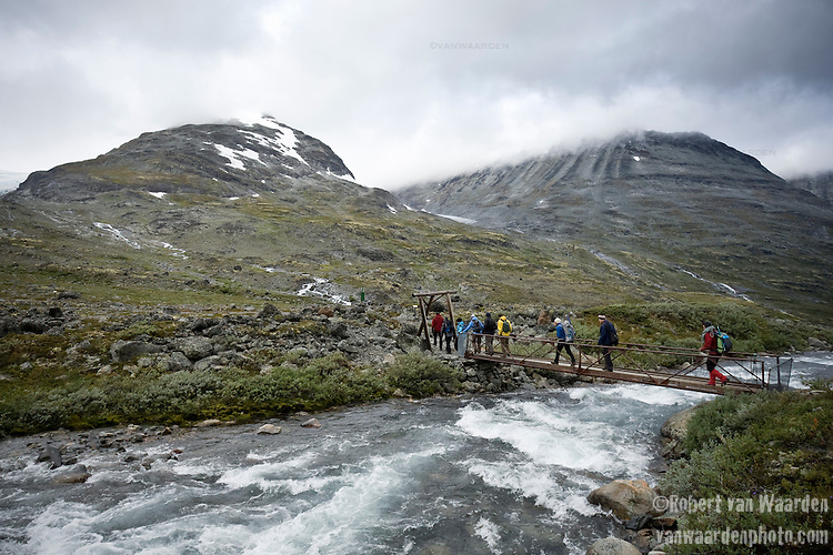Crossing the rivers to do field work in Jotunheimen NasjonalPark