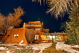 USA; New Mexico; Taos; night shot of the The Mabel Dodge Luhan House