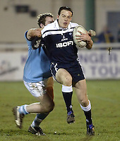 Cambridge University / Oxford University..24th PCubed Student Rugby League Varsity Match..Richmond Athletic Ground, March 3, 2004..Pic : Max Flego ..John Corcoran surges forward for Oxford..
