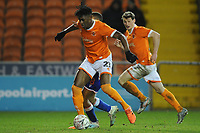 Blackpool's Armand Gnanduillet under pressure from Reading's Andy Rinomhota<br /> <br /> Photographer Kevin Barnes/CameraSport<br /> <br /> Emirates FA Cup Third Round Replay - Blackpool v Reading - Tuesday 14th January 2020 - Bloomfield Road - Blackpool<br />  <br /> World Copyright © 2020 CameraSport. All rights reserved. 43 Linden Ave. Countesthorpe. Leicester. England. LE8 5PG - Tel: +44 (0) 116 277 4147 - admin@camerasport.com - www.camerasport.com