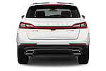 Straight rear view of 2016 Lincoln MKX Black Label 5 Door Suv Rear View  stock images