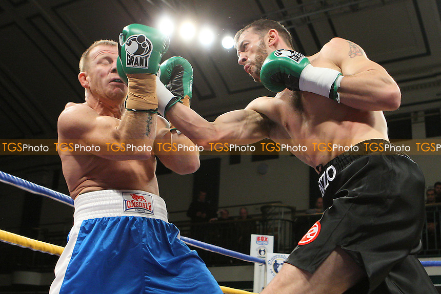 Enzo Maccarinelli defeats Gyorgy Marosi in a Light-Heavyweight boxing contest at York Hall, Bethnal Green, promoted by Queensberry Promotions - 18/11/11 - MANDATORY CREDIT: Gavin Ellis/TGSPHOTO - Self billing applies where appropriate - 0845 094 6026 - contact@tgsphoto.co.uk - NO UNPAID USE.