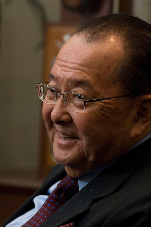 04/16/07--Senate Appropriations Defense Subcommittee Chairman Daniel K. Inouye, D-Hawaii, during an interview in his office in the Hart Senate Office Building at the U.S. Capitol. Congressional Quarterly by Photo Scott J. Ferrell
