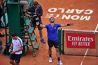 Esultanza Fabio Fognini <br /> Monaco 21/04/2019 Monte Carlo Country Club Panoramica <br /> Tennis Torneo ATP Montecarlo 2019 <br /> Foto Norbert Scanella / Panoramic / Insidefoto <br /> ITALY ONLY