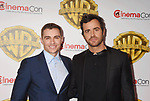 LAS VEGAS, CA - MARCH 29: Actors Dave Franco (L) and Justin Theroux arrive at CinemaCon 2017 Warner Bros. Pictures Invites You to ?The Big Picture?, an Exclusive Presentation of our Upcoming Slate at The Colosseum at Caesars Palace during CinemaCon, the official convention of the National Association of Theatre Owners, on March 29, 2017 in Las Vegas, Nevada.