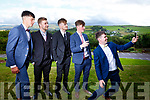 Check it out boys. L-r, Tadgh Brick, Marcus Nolan, Aidan King, Brendan Walsh and Barry Lyons attending the Presentation Tralee Debs in the Ballyroe Hotel on Tuesday.