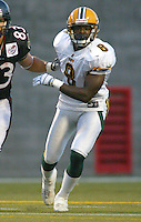 Robert Grant Edmonton Eskimos. Photo Scott Grant