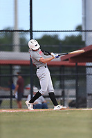 Jud Fabian (65) of Trinity Catholic High School in Ocala, Florida during the Under Armour Baseball Factory National Showcase, Florida, presented by Baseball Factory on June 12, 2018 the Joe DiMaggio Sports Complex in Clearwater, Florida.  (Nathan Ray/Four Seam Images)