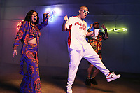MIAMI, FLORIDA - MAY 29, 2018 Cardi B, Bad Bunny &amp; J Balvin on the set of the I Like It video shoot March 28, 2018 in Miami, Florida. <br /> CAP/MPI/WG<br /> &copy;WG/MPI/Capital Pictures