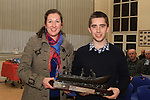 Helen Martin presents the Martin Kilkelly Memorial Award to Niall Convey  (joint winner with Brian O'Keefe) at the School Awards Ceremony in St.Mary's School...(Photo credit should read Jenny Matthews www.newsfile.ie)....This Picture has been sent you under the conditions enclosed by:.Newsfile Ltd..The Studio,.Millmount Abbey,.Drogheda,.Co Meath..Ireland..Tel: +353(0)41-9871240.Fax: +353(0)41-9871260.GSM: +353(0)86-2500958.email: pictures@newsfile.ie.www.newsfile.ie.