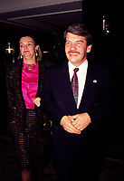 Montreal. CANADA -    File Photo circa 1990 - <br /> Jean Dore, Montreal Mayor and his wife<br /> <br /> File Photo : Agence Quebec Pressse  - Pierre Roussel
