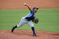 Tampa Bay Rays pitcher Luis Nunez (85) during an Instructional League game against the Minnesota Twins on September 16, 2014 at Charlotte Sports Park in Port Charlotte, Florida.  (Mike Janes/Four Seam Images)
