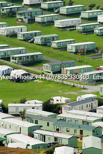 Permanent holiday home caravan park. Borth UK 2008. west coast of North Wales.