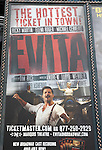 Billboard: 'EVITA' Starring Ricky Martin, Elena Roger and Michael Cerveris Times Square on August 26, 2012 in New York City.