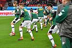 10.03.2018, BayArena, Leverkusen , GER, 1.FBL., Bayer 04 Leverkusen vs. Borussia Moenchengladbach<br /> im Bild / picture shows: <br /> die Gladbacher beim aufwaermen<br /> <br /> <br /> Foto © nordphoto / Meuter
