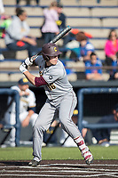 Central Michigan Chippewas outfielder Daniel Jipping (16) at bat against the Michigan Wolverines on May 9, 2017 at Ray Fisher Stadium in Ann Arbor, Michigan. Michigan defeated Central Michigan 4-2. (Andrew Woolley/Four Seam Images)