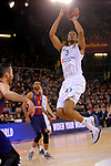 Turkish Airlines Euroleague 2017/2018.<br /> Regular Season - Round 23.<br /> FC Barcelona Lassa vs R. Madrid: 74-101.<br /> Anthony Randolph.
