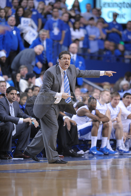 UK Head Coach John Calipari during the second half of the University of Kentucky Men's basketball game against Tennessee at Rupp Arena in Lexington, Ky., on 2/8/11. Uk won the game 73-61. Photo by Mike Weaver | Staff