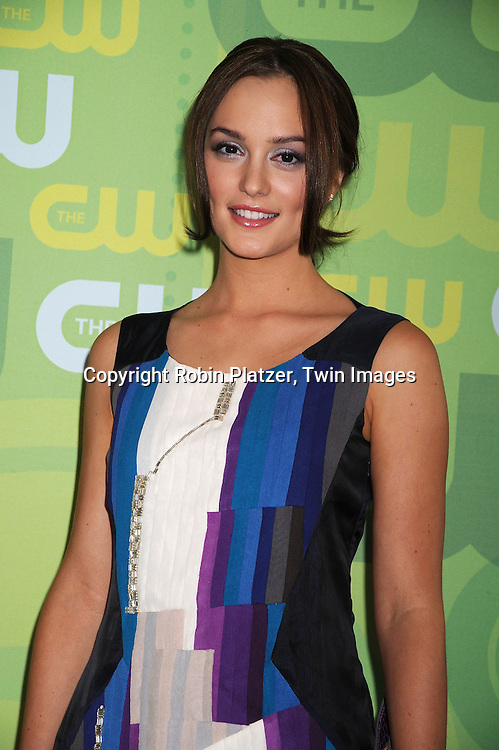 "Leighton Meester of ""Gossip Girl"" in Chloe dress..posing for photographers at The CW Upfront Announcement of their 2008-2009 Fall Season on May 13, 2008 at Lincoln Center.....Robin Platzer, Twin Images"