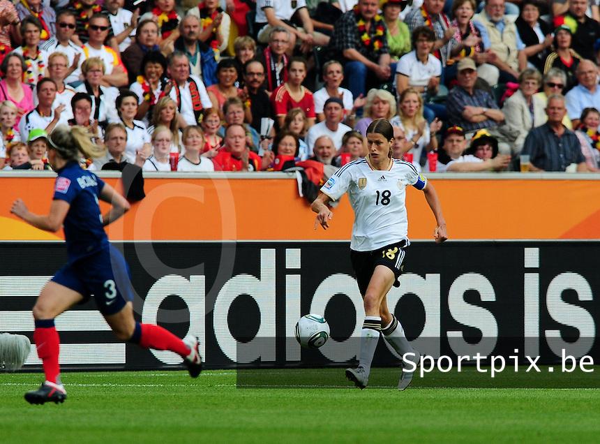 Fifa Women's World Cup Germany 2011 : France - Germany ( Frankrijk - Duitsland ) at Munchengladbach World Cup stadium : Kerstin GAREFREKES.foto DAVID CATRY / Vrouwenteam.be