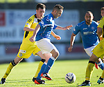 St Johnstone v St Mirren....04.10.14   SPFL<br /> James McFadden and Sean Kelly<br /> Picture by Graeme Hart.<br /> Copyright Perthshire Picture Agency<br /> Tel: 01738 623350  Mobile: 07990 594431