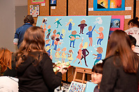 20190810 Hutt Winter Festival - Live Action Mural Painting