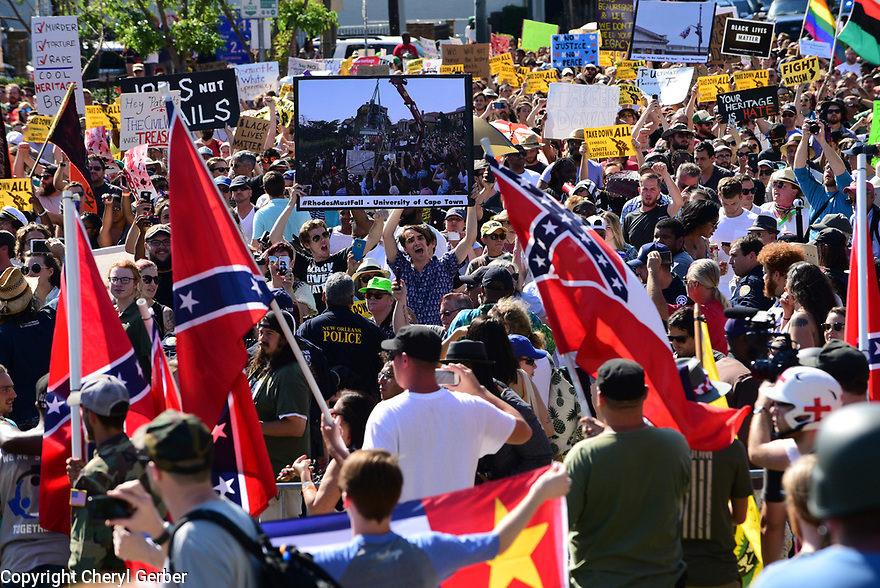 Protesters clash over the removal of Confederate Monument to General Robert E. Lee.