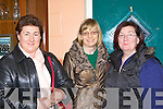 Listening to Mountjoy Gouvenor John Lonnergan lecture at Killarney Community College on Monday night was l-r: Christina O'Sullivan, Mary Buckley and Teresa Daly
