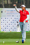 Rivani Adelia Sihotang of Indonesia tees off at tee one during the 9th Faldo Series Asia Grand Final 2014 golf tournament on March 18, 2015 at Faldo course in Mid Valley clubhouse in Shenzhen, China. Photo by Xaume Olleros / Power Sport Images