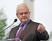 """Washington, DC - May 16, 2009 -- Former Speaker of the House Newt Gingrich (Republican of Georgia) speaks at the """"Close the Gap: Education Equality Day"""" on the White House Ellipse in Washington, D.C. on Saturday, May 16, 2009..Credit: Ron Sachs / CNP.(RESTRICTION: NO New York or New Jersey Newspapers or newspapers within a 75 mile radius of New York City)"""