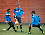 Fabio Cardoso with Aaron Nemane and Daniel Candeias