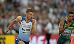 Daniel TALBOT (GBR) in the mens 200m heats. IAAF world athletics championships. London Olympic stadium. Queen Elizabeth Olympic park. Stratford. London. UK. 07/08/2017. ~ MANDATORY CREDIT Garry Bowden/SIPPA - NO UNAUTHORISED USE - +44 7837 394578