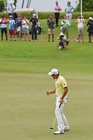 Takumi KANAYA (JPN) celebrates winning the Asia-Pacific Amateur Championship, Sentosa Golf Club, Singapore. 10/7/2018.<br /> Picture: Golffile | Ken Murray<br /> <br /> <br /> All photo usage must carry mandatory copyright credit (&copy; Golffile | Ken Murray)