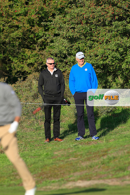 Damien McGrane (IRL) friends during Round 1 of the 2015 KLM Open at the Kennemer Golf &amp; Country Club in The Netherlands on 10/09/15.<br /> Picture: Thos Caffrey | Golffile