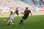 Duesseldorfs Kaan Ayhan #5 gegen Augsburgs Ruben Vargas #16<br /><br />1. Fussball Bundesliga 33. Spieltag - Fortuna Duesseldorf vs. FC Augsburg 20.06.2020<br /><br />(Foto: Sebastian Sendlak / wave.inc/POOL/ via Meuter/Nordphoto)<br /><br />DFL regulations prohibit any use of photographs as image sequences and/or quasi-videos.<br /><br />EDITORIAL USE ONLY<br /><br />National and international News-Agencys OUT.